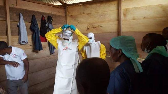 Ambulatorio di Medici Senza Frontiere a Mangina, Congo