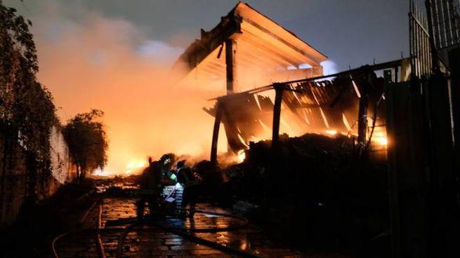 L'incendio in via Chiasserini
