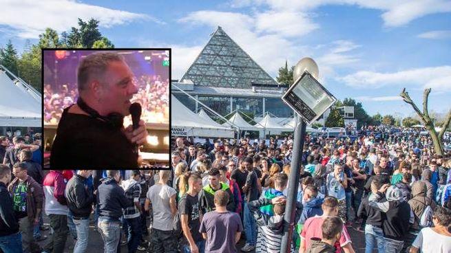 Folla al Cocoricò, nel riquadro lo storico dj Ralf (foto Bove)