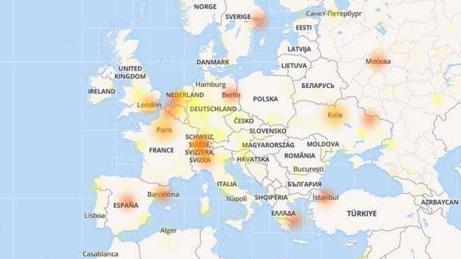 Instagram down: la mappa dal sito downdetector