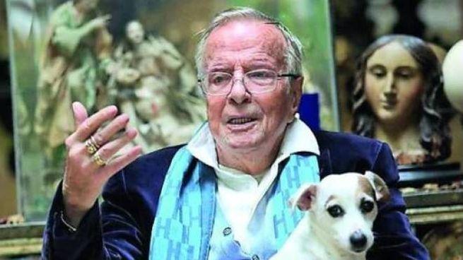 Zeffirelli con uno dei suoi cani