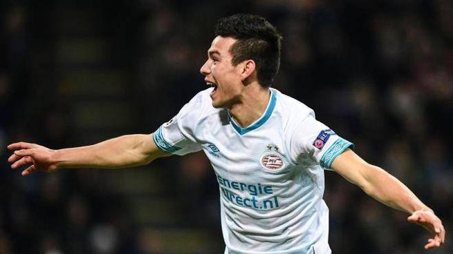 Lozano con la maglia del PSV