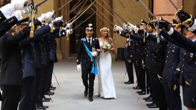 Bologna, il matrimonio in divisa (FotoSchicchi)