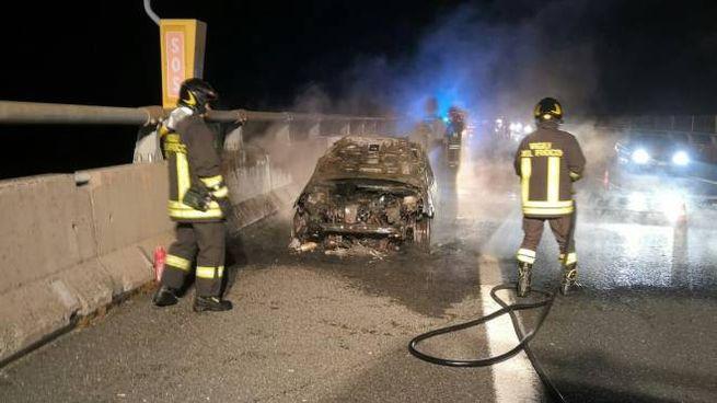 L'intervento dei pompieri (foto Vigili del Fuoco)