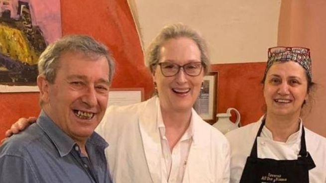 Merly Streep al ristorante in Lunigiana