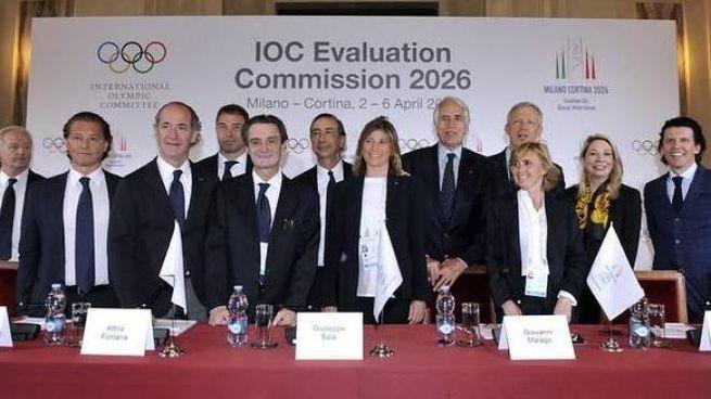 La visita della delegazione olimpica a Milano