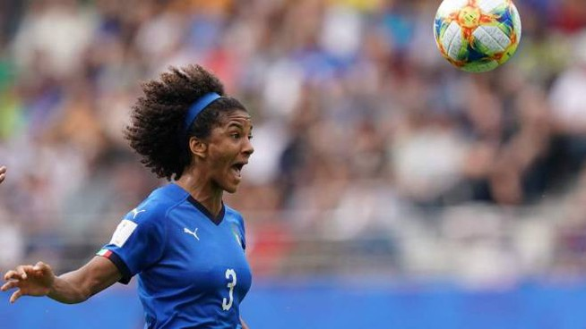 Mondiali di calcio, l'azzurra Sara Gama (foto Lapresse)