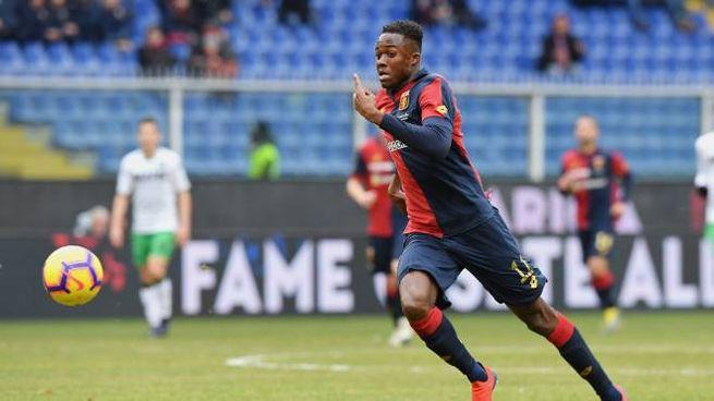 Kouamé con la maglia del Genoa