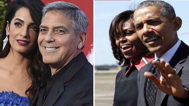 Amal e George Clooney, Michelle e Barack Obama