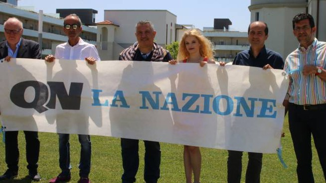 I giornalisti de La Nazione a Eliopoli per presentare il cartellone estivo del quotidiano