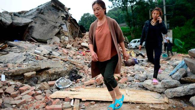 Devastante terremoto in Cina (Lapresse)
