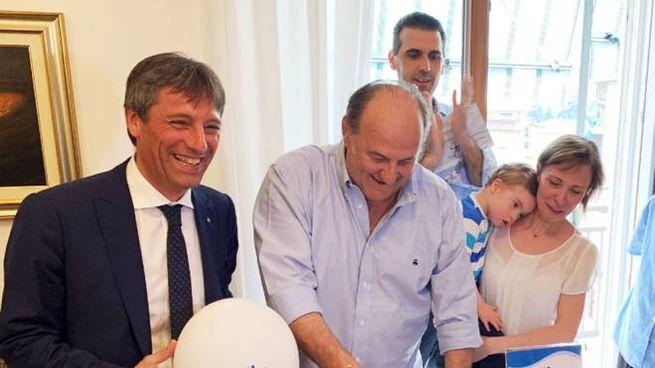 Martin, i genitori insieme a Fabrizio Sala e Gerry Scotti