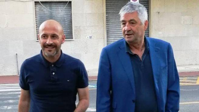 Mister Vincenzo Italiano con il dg Guido Angelozzi