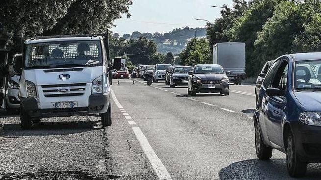 Incidente a Pesaro, investimento in Strada Montefeltro (Fotoprint)