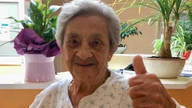Domenica Ravezzi, mai andata all'ospedale in 94 anni