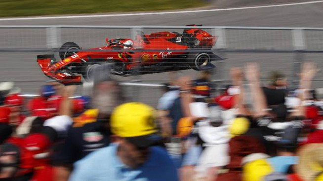 La Ferrari di Vettel (Ansa)