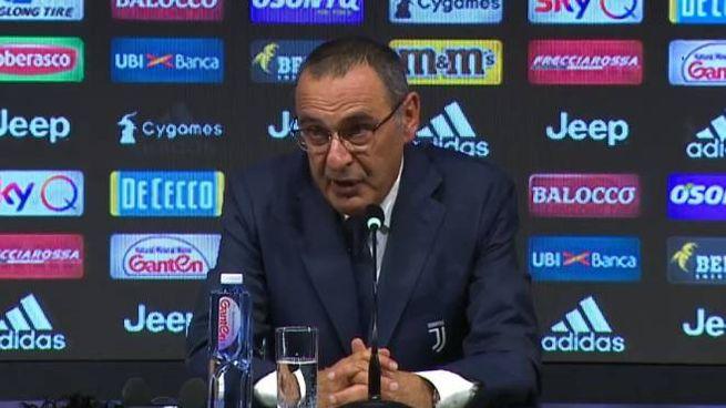Maurizio Sarri alla conferenza stampa di presentazione