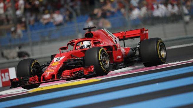 Sebastian Vettel in azione al Paul Ricard