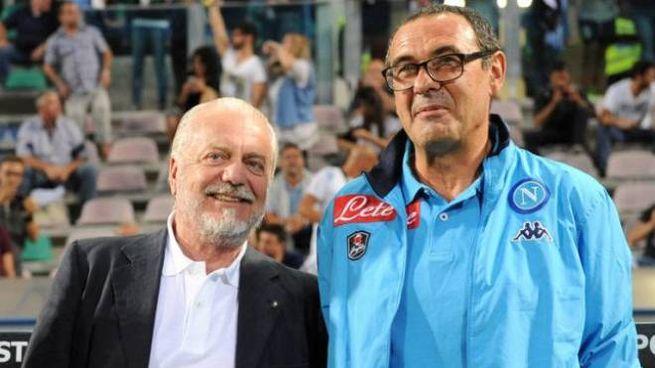 De Laurentiis assieme a Sarri