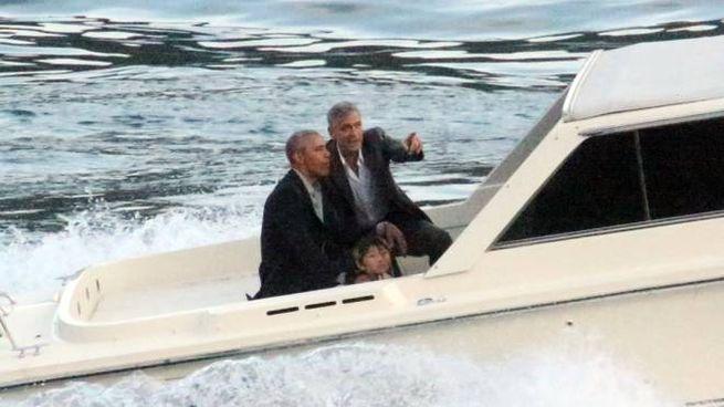 George Clloney e Barack Obama sul Lario