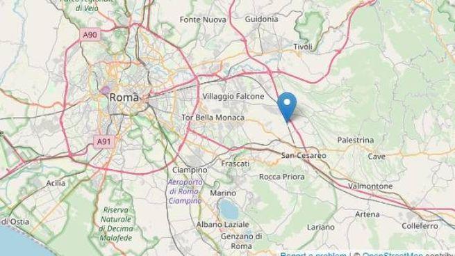 Scossa di terremoto a Roma, epicentro a Colonna (fonte: Ingv)