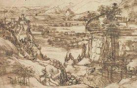 DEL 1473 - Il famoso disegno di Leonardo, il primo da lui realizzato