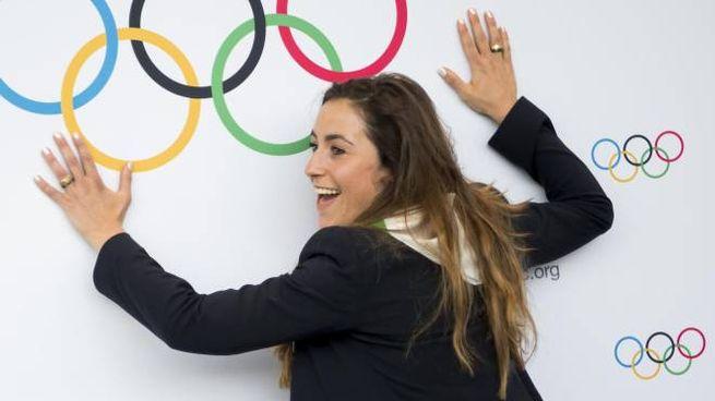 Olimpiadi all'Italia, la gioia di Sofia Goggia (Ansa)