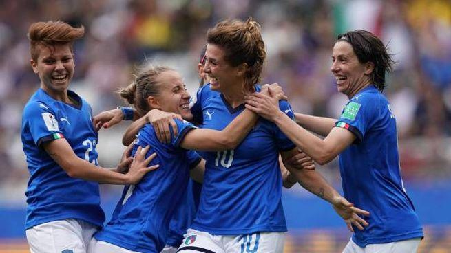 La nazionale italiana femminile di calcio (LaPresse)