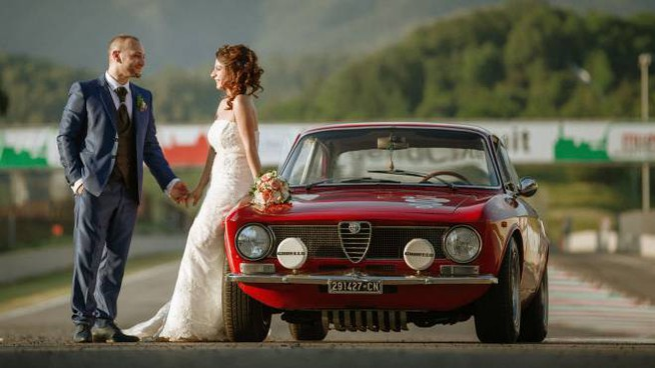 Gli sposi al Mugello (foto Studio TreArt)