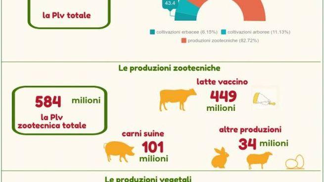 La Plv dell'agricoltura reggiana è al top in regione