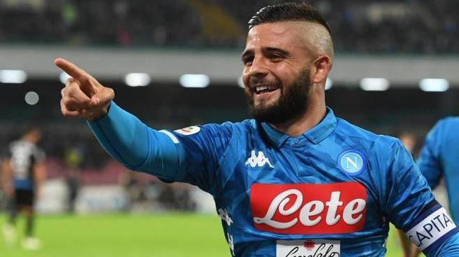 Lorenzo Insigne con la maglia del Napoli (Ansa)