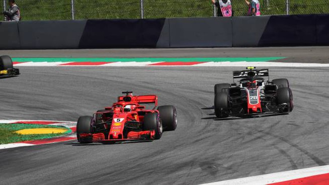 Sebastian Vettel in azione al Red Bull Ring