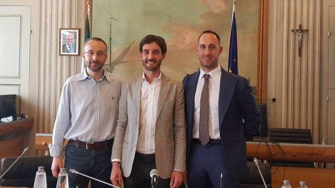 Da sinistra Menozzi, Zanni e Barozzi
