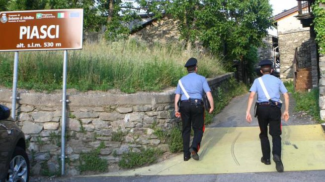 I carabinieri in località Piasci (Anp)