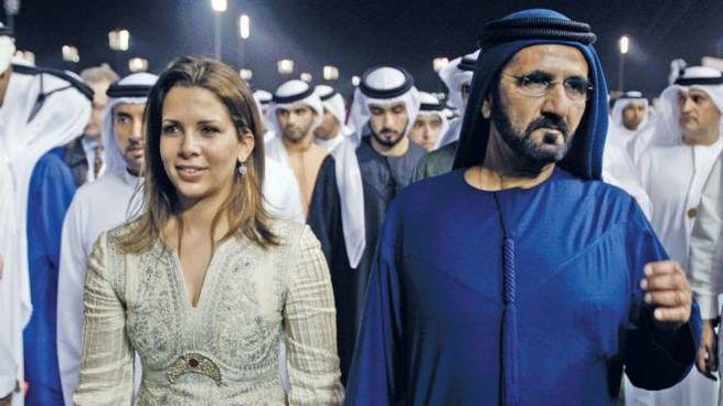 La principessa Haya bint Al Hussein col marito Mohammed bin Rashid al-Maktoum