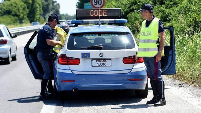 Polizia stradale in una foto di repertorio