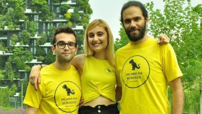 Alessio Ferrantino Giada Lanzotti e Yunes Calore studenti dell'Accademia di Belle Arti