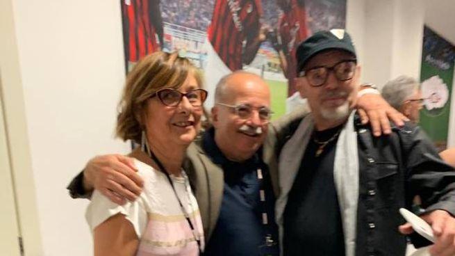 Vasco Rossi con Guido Magnisi e sua moglie