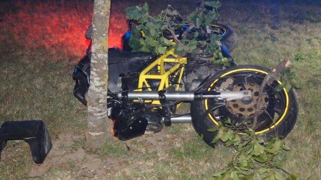 Ali Bahar morto a Mirandola, la moto dopo l'incidente