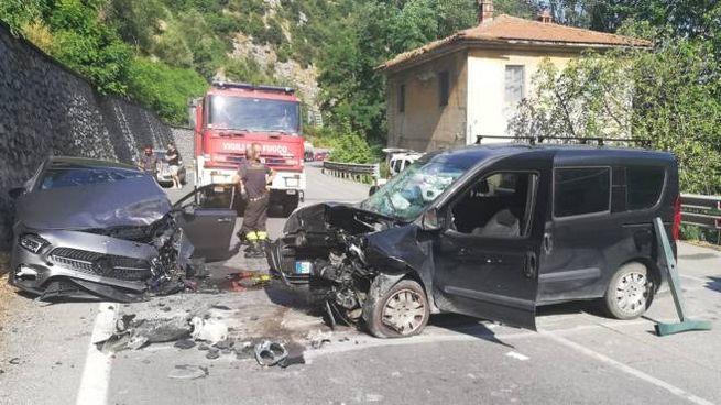 La scena dell'incidente (Foto Alcide)