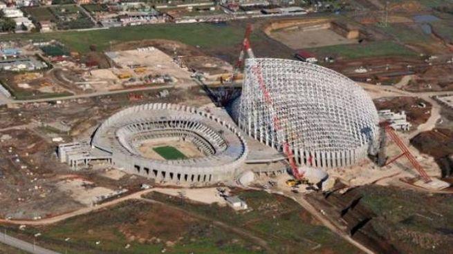 la Città dello Sport di Calatrava costata 660 milioni, abbandonata e incompleta