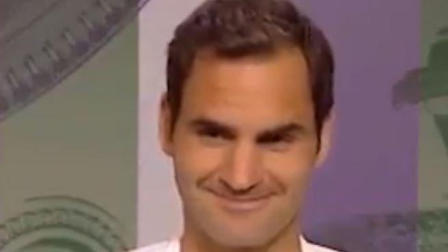 Roger Federer durante la conferenza stampa (Twitter, Ubitennis)
