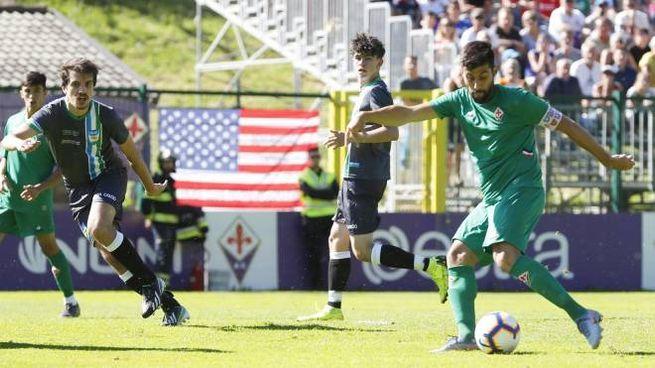 Un momento della prima amichevole della Fiorentina (Fotocronache Germogli)