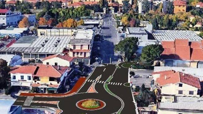 Un'immagine al computer mostra il nuovo assetto dell'area