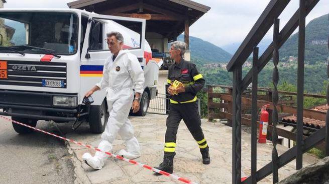 L'intervento dei vigili del fuoco (Cusa)