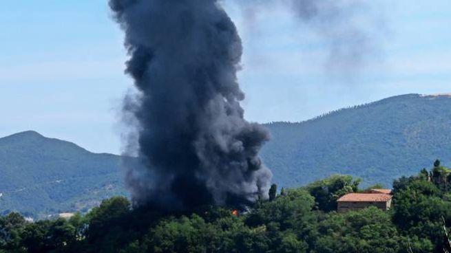 Incendio in una stalla a San Severino