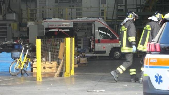 L'ambulanza alla Padana Tubi