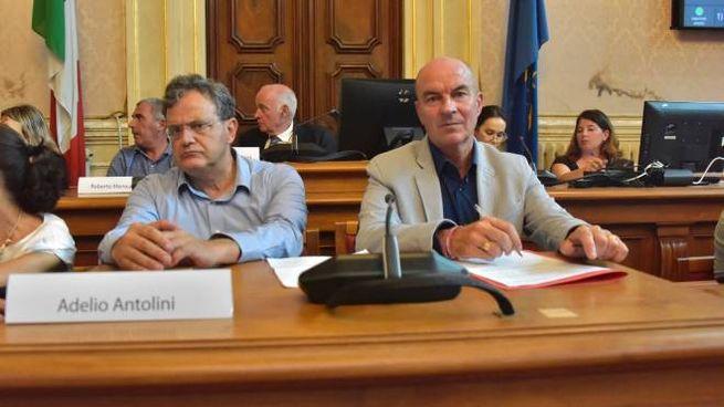 I sindaci di Livorno e Collesalvetti, Antolini e Salvetti (Foto Novi)