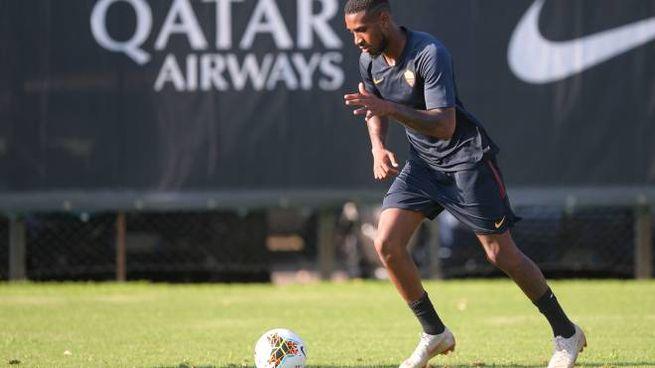 Gerson durante l'allenamento con la Roma (LaPresse)