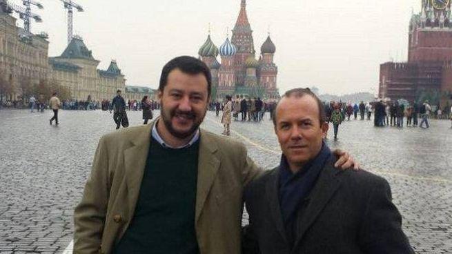 Salvini e Savoini (Ansa)